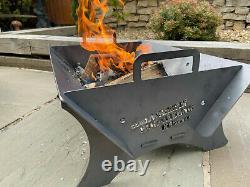 Le 610 Fire Pit Bbq Log Burner Sièges Extérieurs Fire Show Afficher L'étage Camping