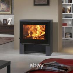 Naxos 10kw Wood Burning Multi Combustible, Burner Log Fire Modern Stove