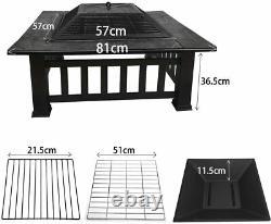 Nouvelle Grande Cheminée Extérieure, Bbq Grill Square Garden Table Patio Log Burner Poêle