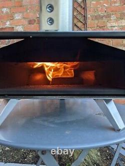 Ooni 3 Four À Pizza Extérieur Au Feu De Bois Avec Pierre À Pâtisserie, Peeling, Granulés Et Couvercle