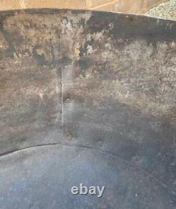 Original Iron Indian Kadai Fire Pit Bowl 85cm Diamètre Inclut Stand