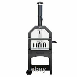 Outdoor Charcoal Pizza Oven & Toolset Steel Barbecue Smoker Wood Fired Bbq Grill