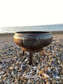 Petit Fire Bowl Pit Bbq 7mm Steel 35 CM De Large Garantie À Vie Ablaze Bowls