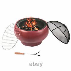 Pictop Firepit Wood Burning Fire Pit Concrete Style Bbq Grill Poker Hr17501ac