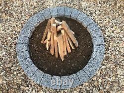 Pierre De Foyer De Granit Gris Foncé Diy Garden Patio, Trapèze Très Unique De Cheminée