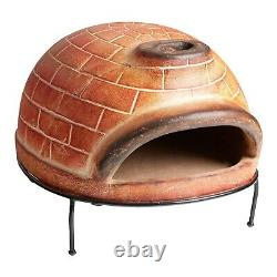 Pizza Oven Ovale Red Brick Wood Fired Terracotta For Home Garden Nouveau