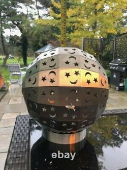 Poitrine D'incendie En Acier Inoxydable Globe - Patio Extérieur/ Brûleur De Bois