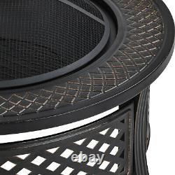 Puits De Feu Extérieur Big Round Fire Bowl Garden Patio Heater Bbq Grill Metal Brazier