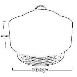 Round Fire Bowl Pit American Style Charcoal Bbq Pour Jardin Extérieur Et Patio