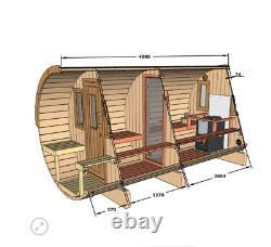 Sauna De Jardin Extérieur Avec Chauffage Électrique Harvia / Bois