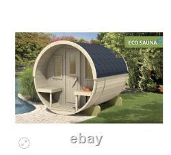 Sauna En Berceau De Jardin Extérieur De 250cm Avec Harvia Électrique / Chauffage Au Bois