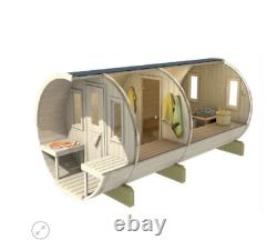 Sauna En Berceau De Jardin Extérieur De 400cm Avec Harvia Électrique / Chauffage Au Bois