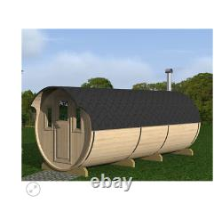 Sauna En Berceau De Jardin Extérieur De 480cm Avec Harvia Électrique / Chauffage Au Bois