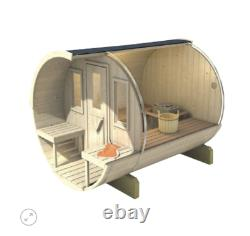 Sauna Extérieur De Baril De Jardin De 280cm Avec Harvia Électrique / Chauffage Au Bois