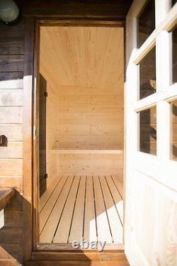 Sauna Ovale Sauna Extérieur De Jardin En Bois, Mieux Que Le Canon Harvia Wood Fired