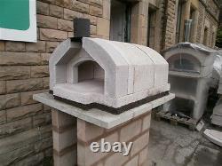 Sorrento Italian Wood Fired Precast Refractory Pizza Four Indoor/outdoor