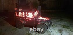 The Landy Fire Pit (free Wheeling) Plaque Hot Cnc Plasma Bbq Camping Extérieur