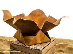 Unique Corten Steel Fire Pit Design Sculptural MID Century Par Flavants Firepit