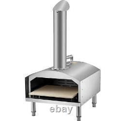Vevor Four À Pizza Et Extérieur Portable Garden Fumer En Acier Au Charbon Au Bois