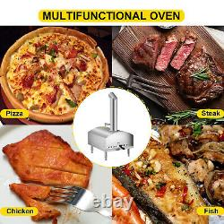 Vevor Wood Fired Oven Portable Pizza Oven 12 Pizza Oven Outdoor Avec Chauffage Rapide