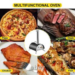 Vevor Wood Pellet Fired Pizza Four Portable Garden Outdoor With12 Pizza Stone